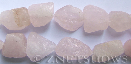rose quartz  nugget Beads <b>about 13x18mm</b> rough    per   <b> 8-in-str</b>