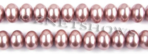 south sea shell pearl mauve color rondelle Beads <b>12x8mm</b>     per   <b> 15.5-in-str</b>