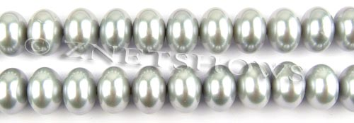 south sea shell pearl  rondelle Beads <b>12x8mm</b> -light gray color -     per   <b> 15.5-in-str</b>
