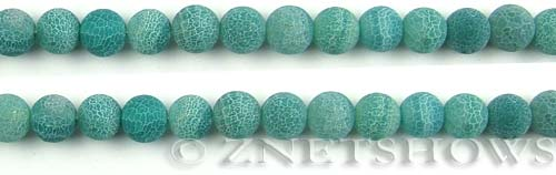 Fire agate dyed green color round Beads <b>about 8mm</b>     per   <b> 8-in-str</b>