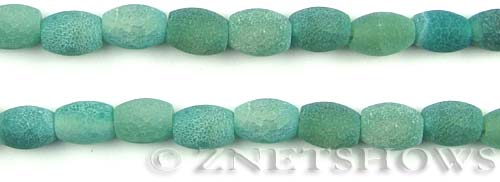 Fire agate dyed green color barrel Beads <b>about 12x9mm</b>     per   <b> 8-in-str</b>
