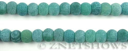 Fire agate dyed green color rondelle Beads <b>about 10x7mm</b>     per   <b> 8-in-str</b>