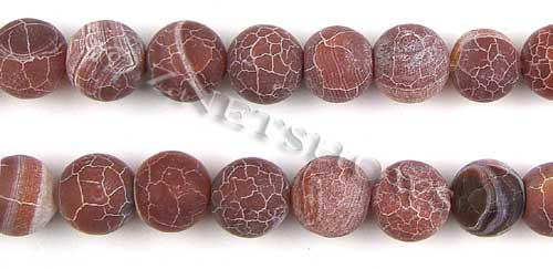 Fire agate dyed red color round Beads <b>about 14mm</b>     per   <b> 8-in-str</b>