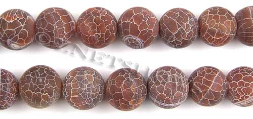Fire agate dyed red color round Beads <b>about 16mm</b>     per   <b> 8-in-str</b>