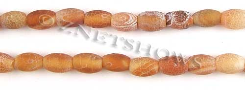 Fire agate dyed red color drum Beads <b>about 12x8mm</b>     per   <b> 8-in-str</b>