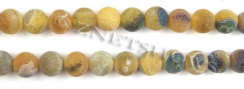 Fire agate dyed yellow color round Beads <b>about 10mm</b>     per   <b> 8-in-str</b>