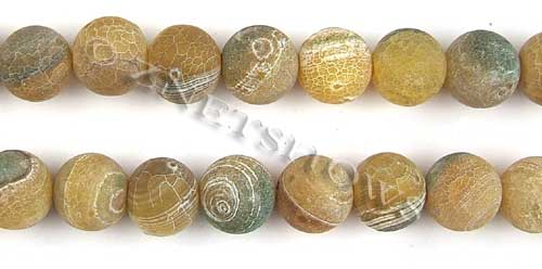 Fire agate dyed yellow color round Beads <b>about 14mm</b>     per   <b> 8-in-str</b>