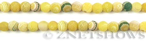 Fire agate dyed yellow with green color round Beads <b>about 6mm</b>     per   <b> 8-in-str</b>