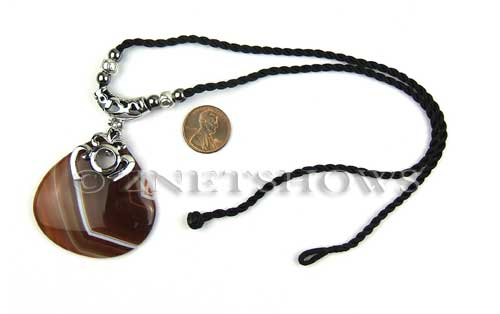 agate sardonyx teardrop Beads <b>18 inches</b> with an about 48x40mm centerpiece    per   <b> 1-str-bag</b>