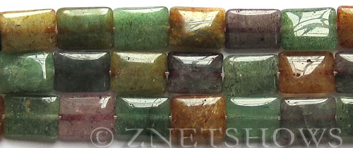 green aventurine dyed tourmaline rectangle puffed Beads <b>12x16mm</b>     per   <b> 15.5-in-str</b>