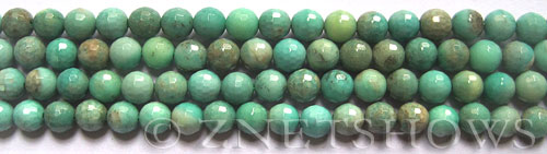 Other stone & material green leaf jasper faceted round Beads <b>6mm</b>     per   <b> 8-in-str</b>