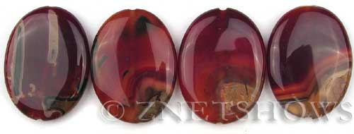 agate striped agate oval puffed Pendants <b>40x30mm</b>     per   <b> piece</b>