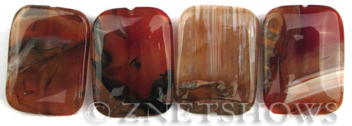 agate striped agate rectangle puffed Pendants <b>40x30mm</b>     per   <b> piece</b>