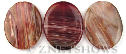 agate striped agate oval puffed Pendants <b>50x40mm</b>     per   <b> piece</b>