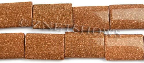 goldstone  rectangle pillow Beads <b>18x25mm</b>     per   <b> 8-in-str</b>