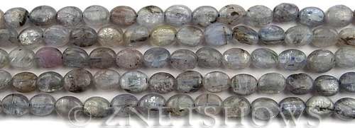 kyanite  oval Beads <b>8x6mm</b> light color    per   <b> about 8-in-str</b>