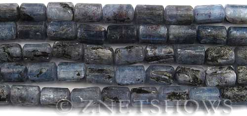 kyanite  tube Beads <b>12x8mm</b>     per   <b> about 8-in-str</b>