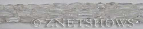 crystal quartz faceted tube Beads <b>12mm</b>     per   <b> about 14-in-str</b>