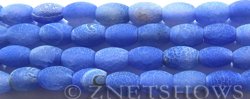 Fire agate dyed blue color barrel Beads <b>about 12x9mm</b>     per   <b> 8-in-str</b>