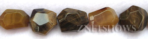 agate faceted nugget Beads <b>8-15x12-22mm </b>     per   <b> 8-in-str</b>