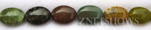 Other stone & material green opal oval puffed Beads <b>about 14x10mm</b>     per   <b> 8-in-str</b>