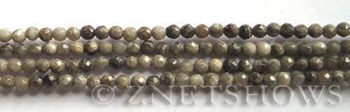 silver leaf faceted round Beads <b>4mm</b>     per   <b> 8-in-str</b>