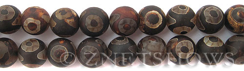 agate  round Beads <b>14mm</b> DZI eye dots    per   <b> 8-in-str</b>