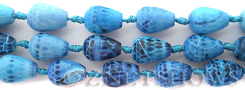 agate turquoise blue teardrop round Beads <b>18x13mm</b>     per   <b> 15-pc-str</b>