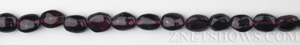 red garnet freeform oval puffed Beads <b>About 7x5mm</b>     per   <b> 14-in-str</b>