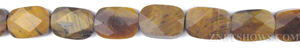 tigerseye faceted rectangle puffed Beads <b>10x14mm</b>     per   <b> 15.5-in-st</b>
