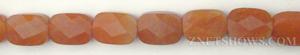 red aventurine faceted rectangle puffed Beads <b>10x14mm</b>     per   <b> 15.5-in-str</b>