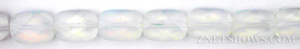opalescent glass quartz faceted rectangle puffed Beads <b>10x14mm</b>     per   <b> 15.5-in-str</b>