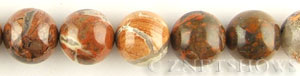poppy jasper  round Beads <b>18mm</b>     per   <b> about 8-in-str (10-pc)</b>