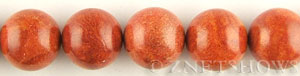 coral sponge coral dyed red color round Beads <b>20mm</b>     per   <b> about 8-in-str</b>