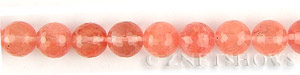 strawberry glass quartz faceted round Beads <b>10mm</b>     per   <b> 15.5-in-str</b>