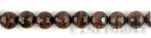 tigerseye red tigerseye faceted round Beads <b>10mm</b>     per   <b> 15.5-in-str</b>