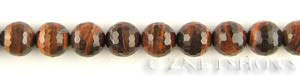 tigerseye red tigerseye faceted round Beads <b>12mm</b>     per   <b> 16-in-str</b>