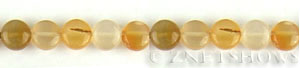 carnelian  coin puffed Beads <b>8mm</b>     per   <b> 15.5-in-str</b>