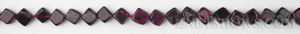 red garnet  diamond Beads <b>about 5x5mm</b>  diagonal drilled   per   <b> 15-in-str</b>