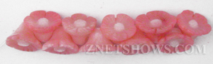 coral bamboo coral pink color flower Beads <b>About 9mm</b> carved tip-drilled   per   <b> 10-pc-pack</b>