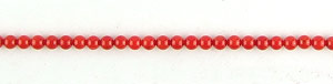 coral bamboo coral dyed red color round Beads <b>3-3.5mm</b>     per   <b> 15.5-in-str</b>