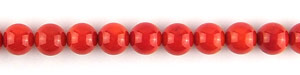 coral bamboo coral dyed red color round Beads <b>8-8.5mm</b>     per   <b> 15.5-in-str</b>
