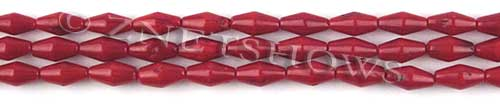 coral bamboo coral dyed red color barrel Beads <b>9x4mm</b>     per   <b> 15.5-in-str</b>