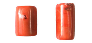 coral bamboo coral peach color tube Pendants <b>35-40x14-17mm</b>     per   <b> piece</b>