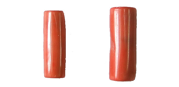 coral bamboo coral peach color tube Pendants <b>25-30x11-13mm</b>     per   <b> piece</b>
