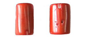 coral bamboo coral peach color tube Pendants <b>30-35x14-17mm</b>     per   <b> piece</b>