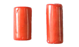 coral bamboo coral peach color tube Pendants <b>35-40x18-22mm</b>     per   <b> piece</b>
