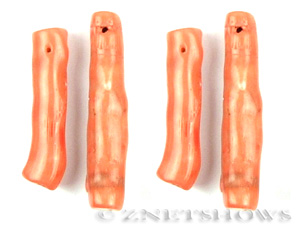 coral bamboo coral peach color branch shape Pendants <b>about 55-45x12-10mm</b>     per   <b> Piece</b>