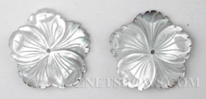 shell - black lip  flower Pendants <b>About 25mm</b> carved Saw Edge carved flower   per   <b>Piece</b>