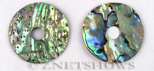 shell - abalone  donut Pendants <b>About 40mm</b>  (hole about 8mm)   per   <b>piece</b>